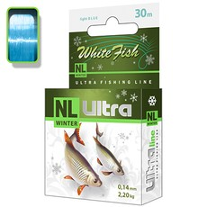 Леска зимняя AQUA NL ULTRA WHITE FISH (Белая рыба) 30m 0,14mm