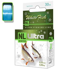 Леска зимняя AQUA NL ULTRA WHITE FISH (Белая рыба) 30m 0,22mm